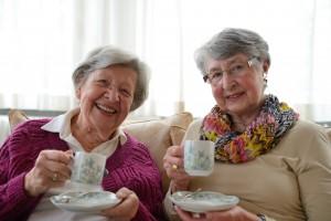Two Senior Ladies Having Coffee 1